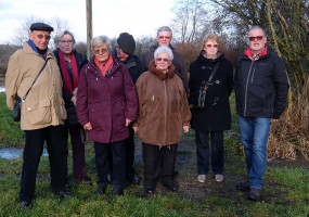 Zweite Gruppe am Kunstweg
