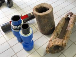 Alte und neue Wasserleitungen