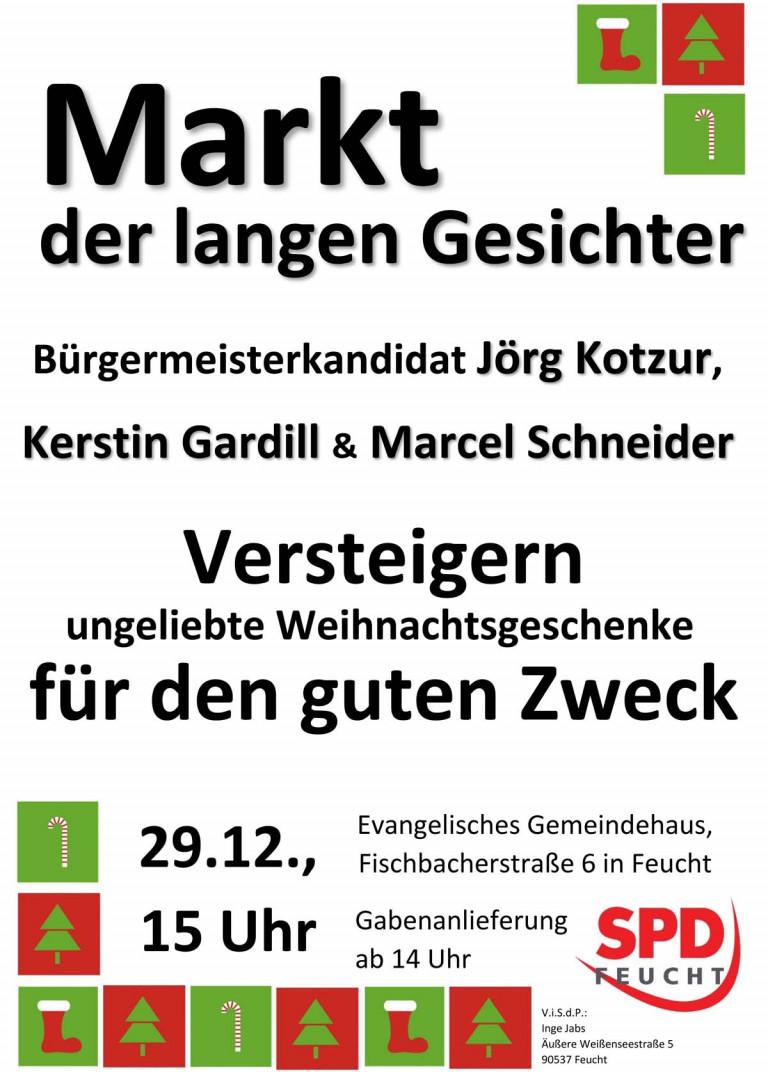 Plakat: Markt der langen Gesichter