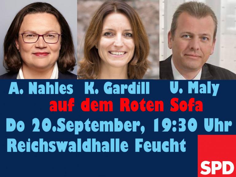 Nahles, Gardill, Maly