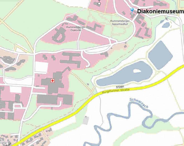 Lageplan Diakoniemuseum